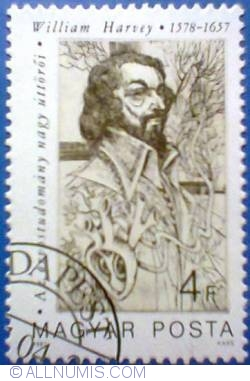 Imaginea #1 a 4 Forint 1987 - William Harvey (1578-1657)