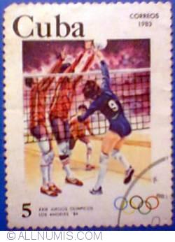 Image #1 of 5 cents 1983 - Jocurile Olimpice de vara Los Angeles 1984 - volei