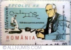 800 lei 1999 - Alexander Fleming (1881-1955) - 1928 descoperirea penicilinei