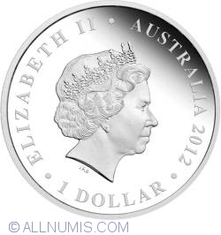 1 Dollar 2012 - Queen Elizabeth II - Diamond Jubilee - 1Oz