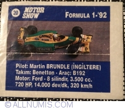 Image #1 of 20 - Martin Brundle - Benetton