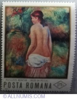 """1.75 Lei - """"Nude in Landscape"""" by A. Renoir"""