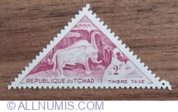 Image #1 of 2 franci 1962 - Taxă - MAROON HORNED BULL