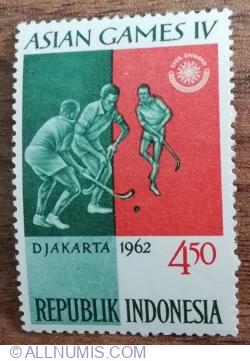 Image #1 of 4.5 Rupia 1962 - Jocuri asiatice - Hochei
