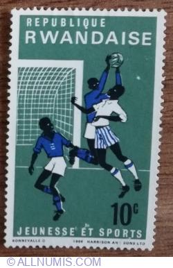 Image #1 of 10 Santime 1966 -  Tineret și sport - Football