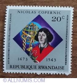 Image #1 of 20 Santime 1973 - Nicolas Copernicus - Copernic și astrolab
