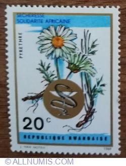 Image #1 of 20 Santime 1969 - Plante medicinale - Mușețel