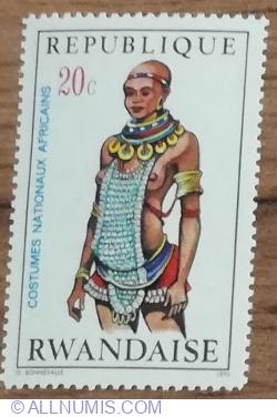 Image #1 of 20 Santime 1970 - Costume naționale africane - femeie Tharaka meru, Africa de Est