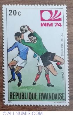 Image #1 of 20 Santime 1974 - Cupa Mondială de Fotbal 1974, Germania - Iugoslavia-Zair