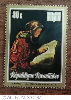Image #1 of 30 Santime 1973 - Anul internațional al cărții. Picturi - Mama lui Rembrandt