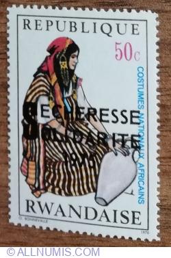 Image #1 of 50 Santimes 1975 - Costume naționale africane - Femeie Tunisiana , purtatoare de apa