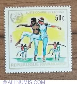 Image #1 of 50 Santime 1972 - Anul internațional împotriva discriminării rasiale - Dansator