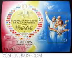 Imaginea #1 a 10 Lei - Europa, Helsinki 1975-1985 (colita nedantelata)
