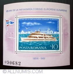 Imaginea #1 a 10 Lei - Vas de pasageri pe Dunare (colita dantelata)