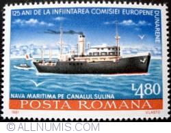 Imaginea #1 a 4.80 Lei - Nava maritima pe canalul Sulina
