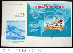 """Image #1 of The International Philatelic Exhibition """"Ameripex '86"""", Chicago - perforated souvenir sheet"""