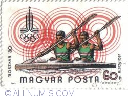 60 f Olimpiada Moscova 1980 Canotaj