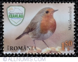 Image #1 of 1,50 Lei 2016 - The European robin (Erithacus rubecula)