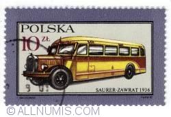 10 Złoty 1987 - Saurer-Zawrat 1936