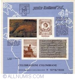 Image #2 of Celebrazioni Colombiane (souvenir sheets)
