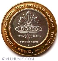 Image #2 of JETON ARGINT .999 El Dorado Hotel Casino Reno Nevada $10