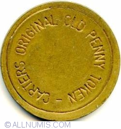 CARTERS ORIGINAL OLD PENNY TOKEN Brass