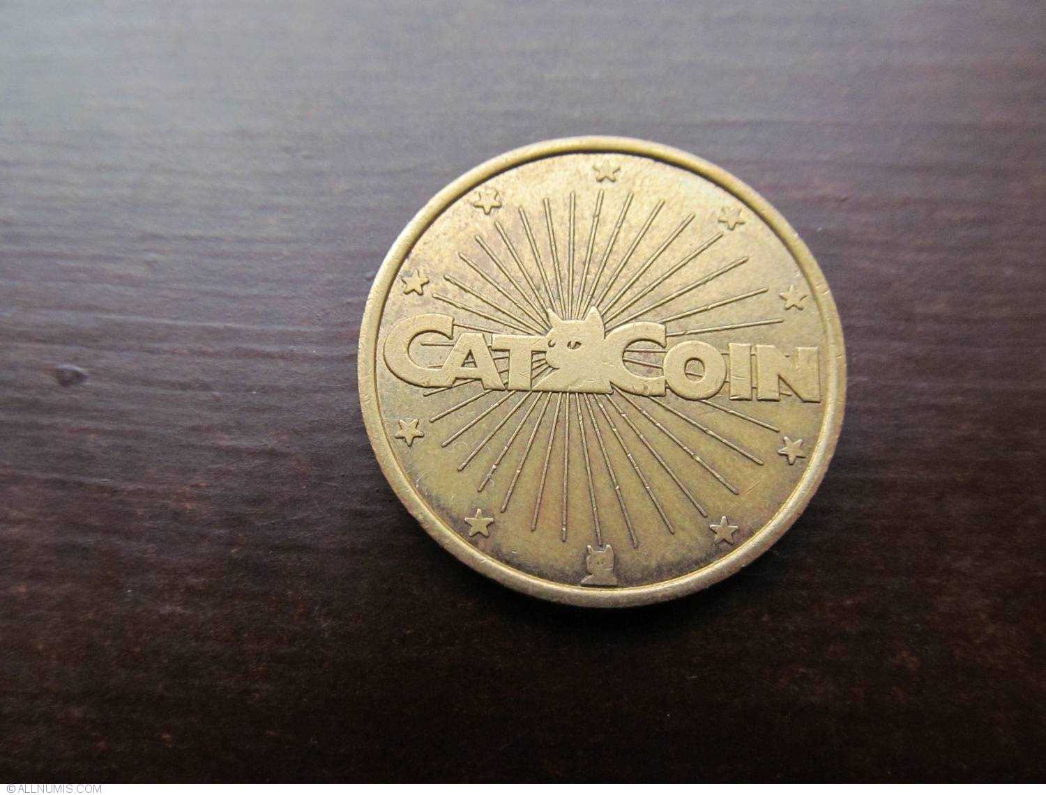 Jeton No Cash Value Cat Coin Business Tokens United