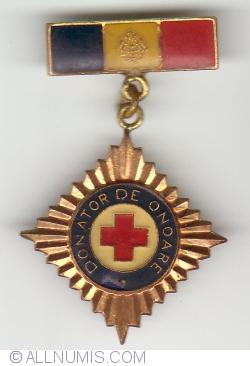 Insigna Crucea Rosie - DONATOR DE ONOARE