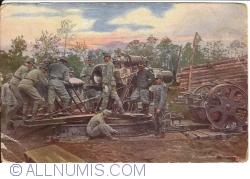 Weltkrieg -  1914-1916  a 30,5 mortor on the Bessarabia front