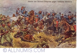 Image #1 of Painting - Attack of Saxony-dragoon against Russian infantry