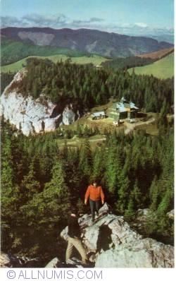 "Image #1 of Rarău Mountains - Chalet ""Rarău"" seen on the Lady Rocks"