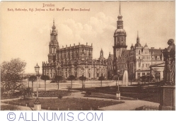 Dresden - Catholic Church, Royal Castle and Karl von Weber Maria Monument