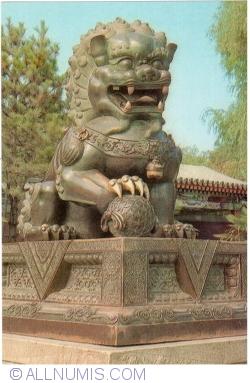 Beijing - Summer Palace (颐和园) - Brass lion