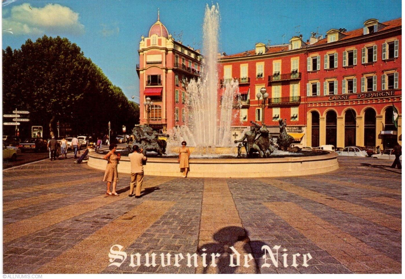 Nice place massena and fountain nice france postcard 35662 - Place massena nice ...