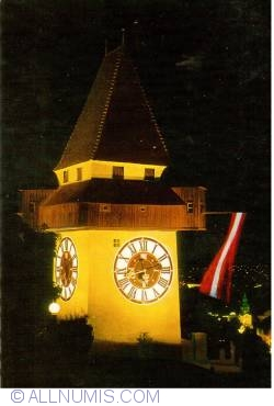 Image #2 of Graz - Clock Tower at night (Uhrturm)