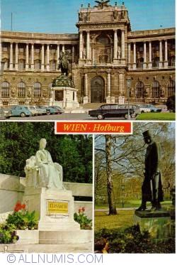 Imaginea #2 a WIEN - Hofburg Palace - KAISERIN ELISABETH + KAISER FR.JOSEF I DENKMAL
