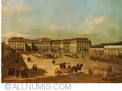 Imaginea #2 a Viena - Palatul Schönbrunn. Partea frontală a castelului, pictată de Canaletto în 1758