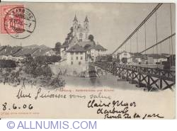 Image #1 of Aarburg - Chain Bridge and Church (Kettenbrucke und kirche)
