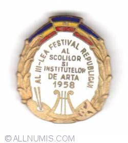 Imaginea #1 a Al III-lea festival republican al scolilor si institutelor de arta 1958
