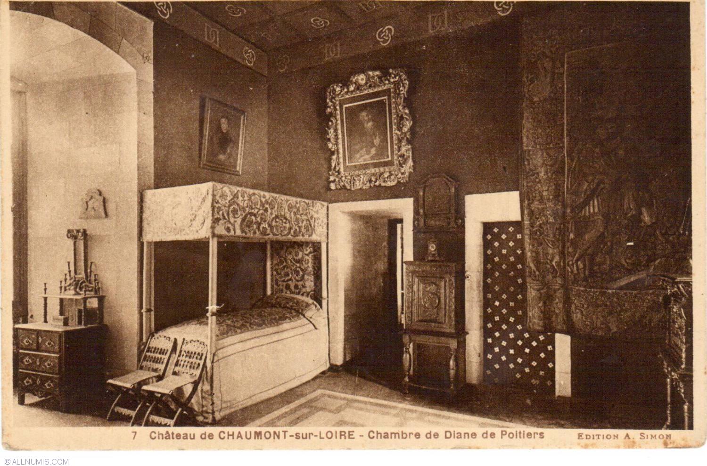 castle chaumont sur loire room diane de poitiers ch teau chaumont sur loire chambre de. Black Bedroom Furniture Sets. Home Design Ideas