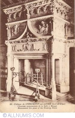 Image #1 of Château de Chaumont sur Loire - Dining room monumental fire place
