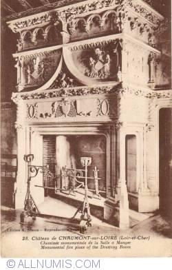 Image #2 of Château de Chaumont sur Loire - Dining room monumental fire place