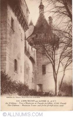 Image #1 of Château de Chaumont sur la Loire - D'Amboise tower and fortified wall