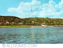 Image #1 of Dresden - Television tower and the village Wachwitz next to the Elbe