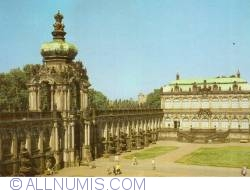 Dresden - The Zwinger Palace - gate and Royal Cabinet of Mathematical and Physical Instruments