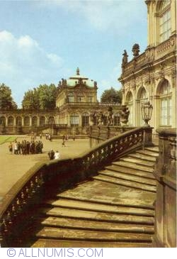 Dresden - Zwinger Palace - staircase to the Nymphs' Bath