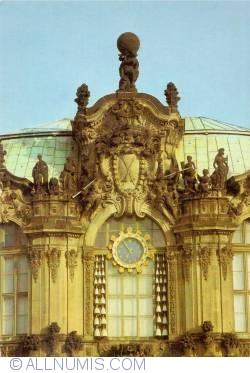 Dresden - Zwinger Palace - The Carillion Pavilion (Glockenspielpavilion)-detail