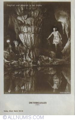 Image #2 of The Nibelungs - Siegfried and Alberich in the cave - Siegfried und Alberich in der Höhle
