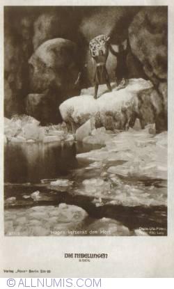 Image #1 of The Nibelungs - Hagen sinking the treasure -Hagen versenkt den Hort