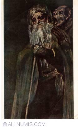 Image #1 of Madrid - Prado Museum - Goya - Two Old Men (Dos frailes)